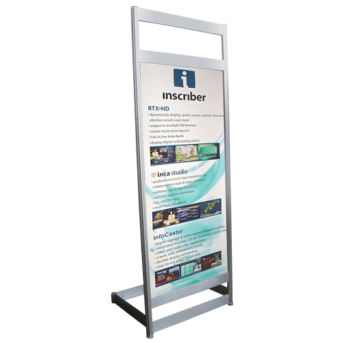 A4 Chrome Signholder Exhibit Systems